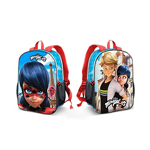 - Backpack Miraculous Ladybug Reversible 3D Front Original Large School Bag