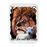 Royal Lion Baby Blanket White Jesus The Lion And The Lamb