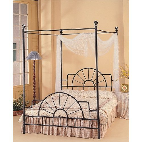 Wrought Iron Sunburst Canopy Full Bed by Coaster