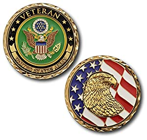 Armed Forces Depot U.S. Army Veteran Challenge Coin by Armed Forces Depot