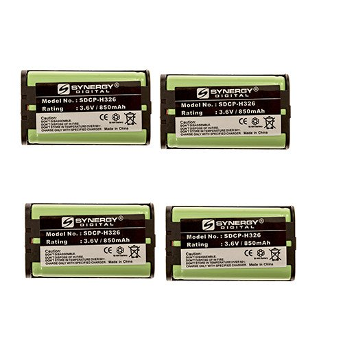 (Radio Shack 43-3815 Cordless Phone Battery Combo-Pack Includes: 4 x SDCP-H326)