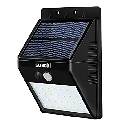 Suaoki Solar Lights Outdoor Super Bright 28 LED Waterproof Motion Sensor Security Light Detachable Design Wall Light for Deck Patio Yard Backyard Pathway Driveway Garden
