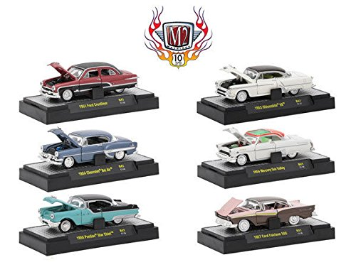 (Auto Thentics 10th Anniversary 6 Piece Set Release 41 IN DISPLAY CASES 1/64 by M2 Machines 32500-41 )