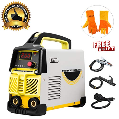 Arc Welder Dual Voltage 110V-220V IGBT Inverter DC Welding Machine 200A High Frequency Household Smart Welder for Novice Welders fits below 3.2mm weling rods (Best Arc Welder For Home Use)