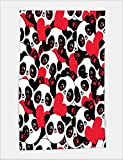 Minicoso Bath Towel gift wrapping paper seamless panda heart seamless packaging design for valentine s day 475802686 For Spa Beach Pool Bath