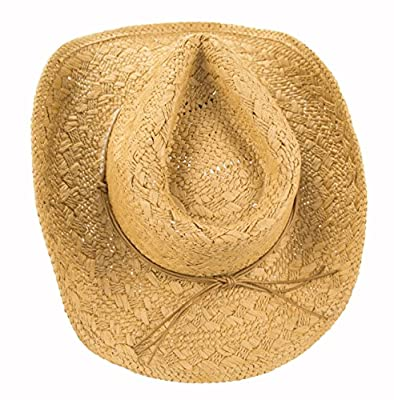 Unique Hand Woven Straw Cowgirl Hat, Shapeable Cowboy Hat, Beaded Hatband with Tie