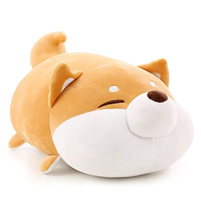 Auspicious beginning Shiba Inu Plush Throw Pillow Cute Corgi Akita Stuffed Animal Soft Plush Doll Dog Kawaii Plush Toy (Brown 1, 11 Inch): Home & Kitchen