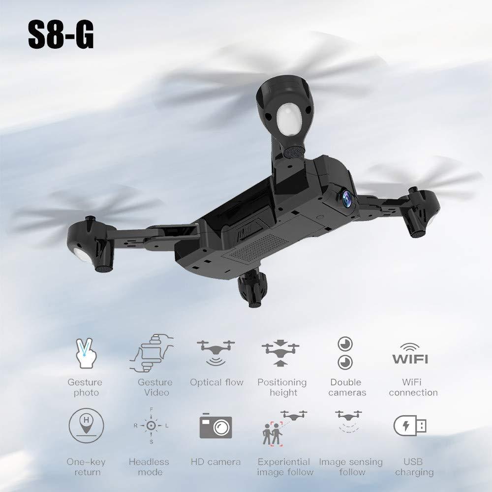 RC Drohne, Farbeful S8-G Quadrocopter 2,4 GHz 4-Achsen-Gyro Wifi Fernbedienung Quadcopters 720 P Optischer Luftstrom Dual Kamera Höhe Halten RC Hubschrauber