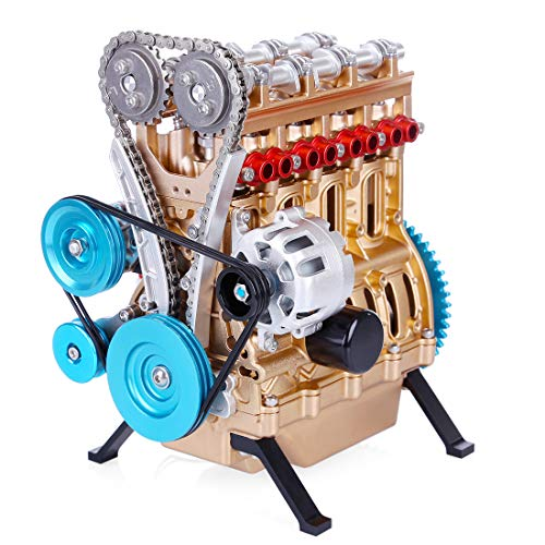 YIFAN V4 4-Cylinder Car Engine Assembly Kit That Runs, DIY Full Metal Engine Model Kits to Build for Adults Kids Over 12…