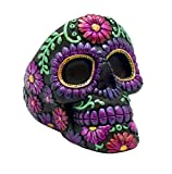 Metallic Day of the dead Ashtray - Floral