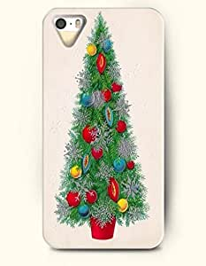 Merry Christmas Xmas Tree With Red And Yellow Decoration - OOFIT iPhone 4 4s Case