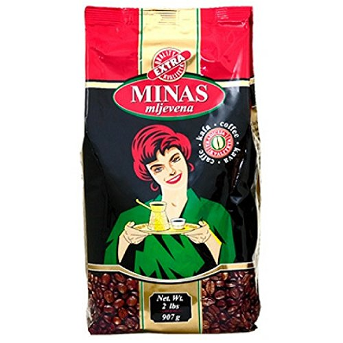 Minas Ground Roasted Coffee Quality Extra (Mljevena Kafa Caffe Kava) 907g (2lbs) Imported Coffee Bosnian Serbian
