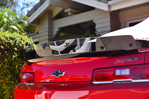ZL1 Addons polished edge Wicker Bill Compatible with Camaro 5th gen Z/28 style spoiler.
