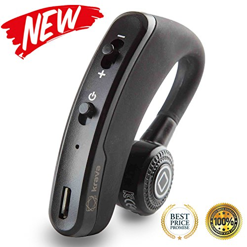 Bluetooth Headset V4.1 - Wireless Bluetooth Speakers Headset Earbuds Headphones Earpieces In-Ear Stereo Sweatproof Lightweight Noise Cancelling Hands Free with Mic for iPhone and Android