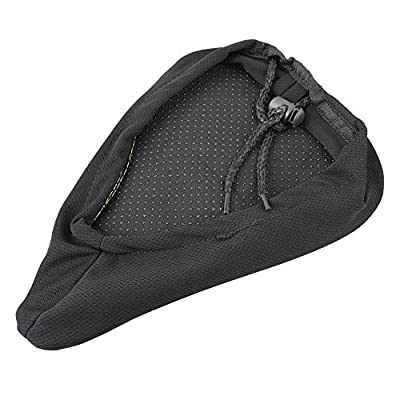 sea-junop Outdoor Bicycle Bike Seat Cover Soft Gel Saddle Seat Cover Cushion (Black)