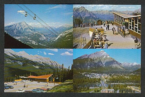 (Canadian Rockies Banff Sulphur Mountain Gondola Lift postcard 1960s)