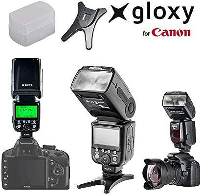 Gloxy TR-985 Flash TTL compatible con Canon EOS 1300D, 1200D, 550D ...