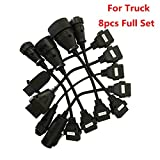 8x OBD2 Full Set Truck Wire Cable Diagnostic Tool