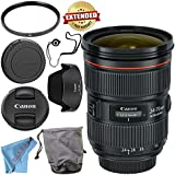 Canon EF 24-70mm f/2.8L II USM Lens 5175B002 + 82mm UV Filter + Fibercloth + Lens Capkeeper Bundle