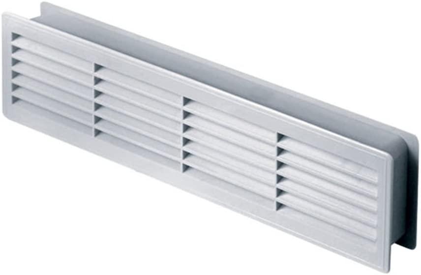 "Bathroom Door Air Vent Grille 455mm x 135mm / 18"" x 5.3 inch Two Sided Ventilation Cover T15"