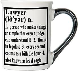 Lawyer Mug, Lawyer Coffee Cup, Ceramic Lawyer Mug, Custom Gifts By Tumbleweed