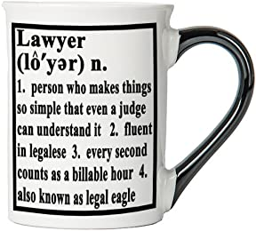 Lawyer Mug, Lawyer Coffee Cup, Ceramic Lawyer Mug, Custom Gifts By Tumbleweed