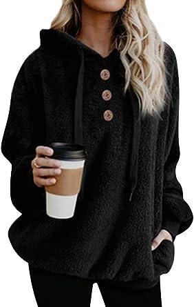 Dresswel damska bluza z kapturem z długim rękawem i kapturem: Odzież