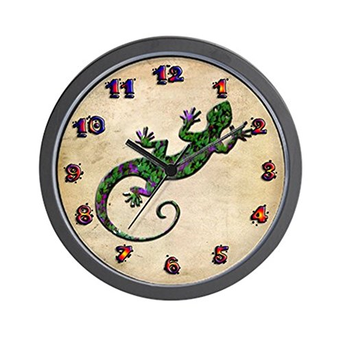 - CafePress - Ivy Green Gecko Wall Clock - Unique Decorative 10