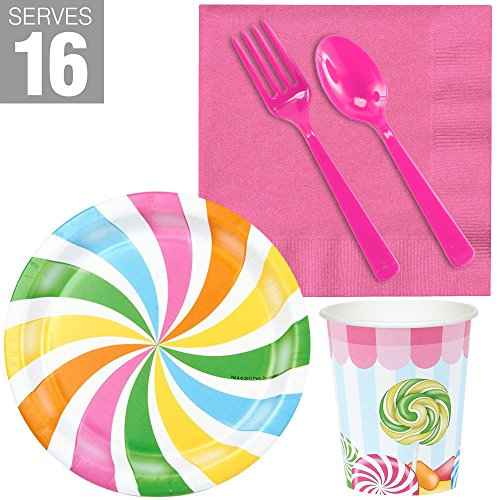 BirthdayExpress Carnival Candy Shoppe Party Supplies - Snack Party -