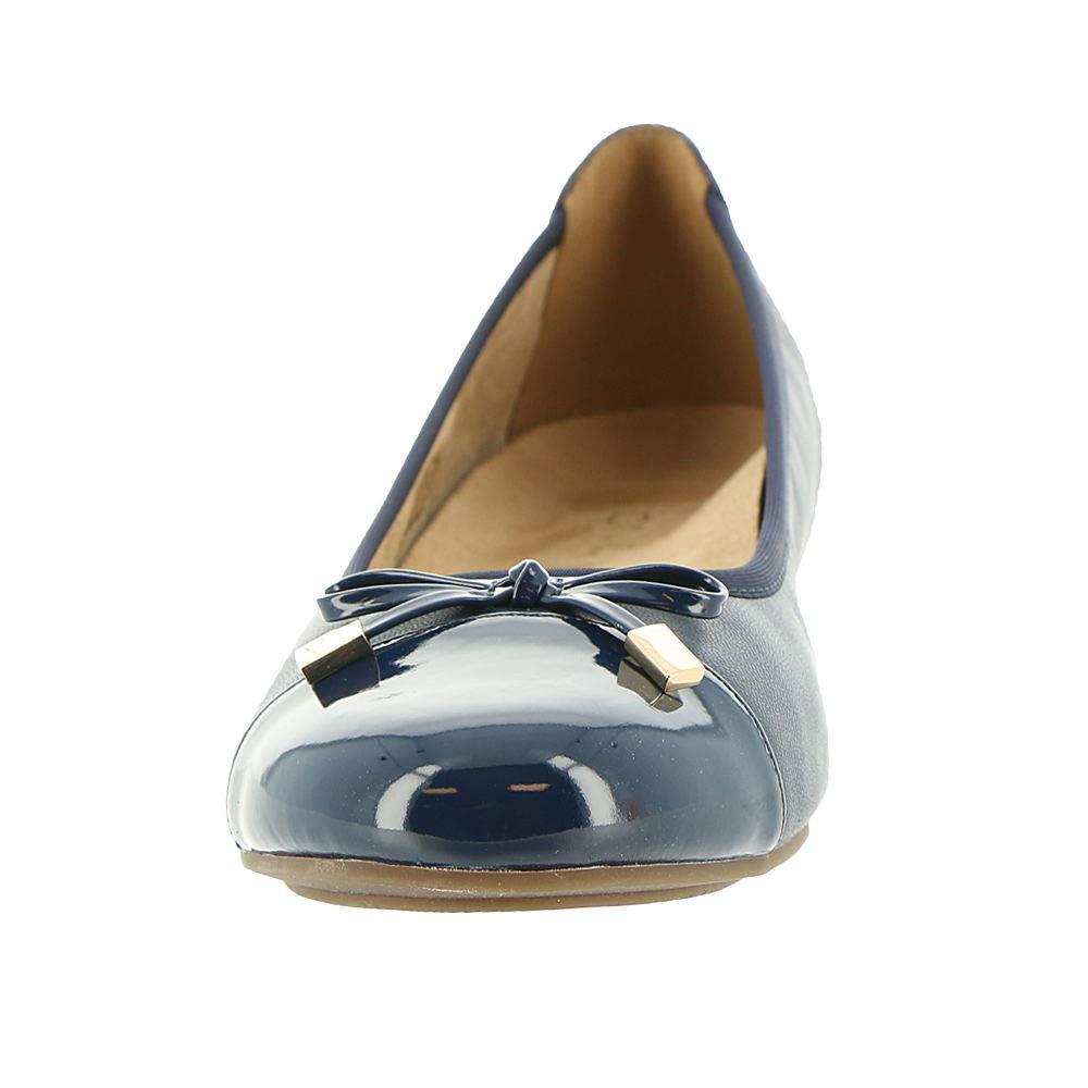 769caf19d1f07 Vionic Women's Minna Ballet Flats Navy 11 N