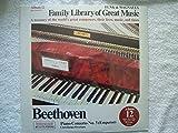 FAMILY LIBRARY OF GREAT MUSIC- BEETHOVEN PIANO CONCERTO No.5 (EMPEROR) CORIOLANUS OVERTURE - ALBUM 12 FUNK & WAGNALLS