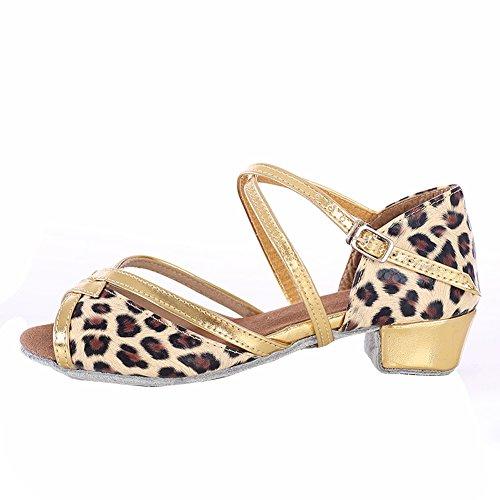 Dance Sandal Latin O Bottom Shoes Shoes Girls Girl ' Shoes Dance Latin Ballroom GUOSHIJITUAN Middle Dance Heels Soft BqEa4