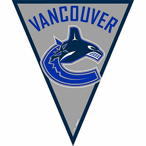 - amscan Vancouver Canucks NHL Pennant Banner, 12', Blue/Gray