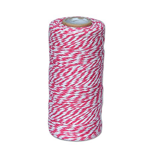 - Cotton Twine Spool 2 Ply Scrapbooking Package Wrap Gift Wrap DIY Crafts 100 Yard (Peach & White)