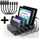 Hercules Tuff USB Charging Dock for Multiple Devices   Short Cables Included (4port - Black)