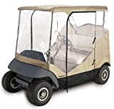 TOMSHOO 4-Sided Golf Cart Cover Enclosure for 2-Person Fairway Golf Car