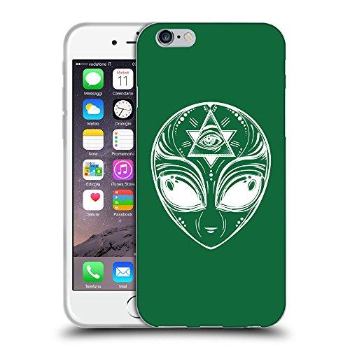 """GoGoMobile Coque de Protection TPU Silicone Case pour // Q09010622 extraterrestre 2 Cadmium vert // Apple iPhone 6 4.7"""""""