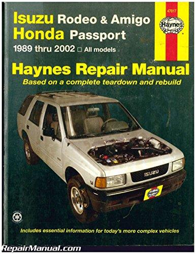 UH47017 Used Isuzu Rodeo Amigo Honda Passport 1989-2002 Haynes Automotive Repair Manual - Used Isuzu Rodeos