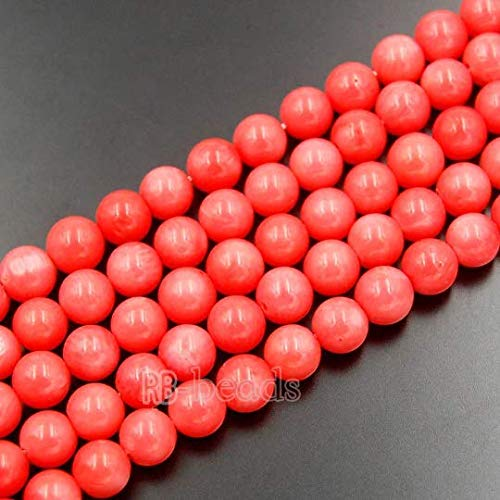 (RainbowShop Natural Round Pink Coral Beads, Gemstone Beads, 15''5 Full Strand, 4mm 6mm 8mm 10mm 12mm (8mm, Pink))