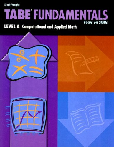 Steck-Vaughn TABE Fundamentals: Student Book Level A Math