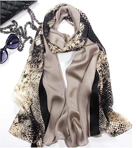 Champagne SALY Ladies Western Style Silk Scarves Silk Scarves