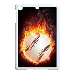 wugdiy New Fashion Cover Case for iPad Mini with custom fire baseball