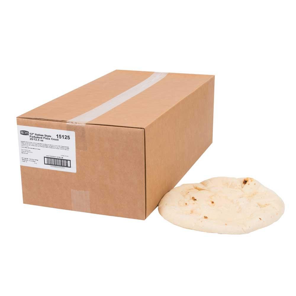Richs Artisan Par Baked 12 inch Pizza Crust, 13.2 Ounce -- 20 per case.