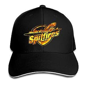 Windsor Spitfires Logo Fire Effect Men's Flex Baseball Cap