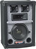 GMI-PRO 3-Way Professional Loud Speaker Cabinet For DJ, PA And Live Stage - 8-Inch Woofer, 150 Watts - Durable Carpet Finish - GMI-1308