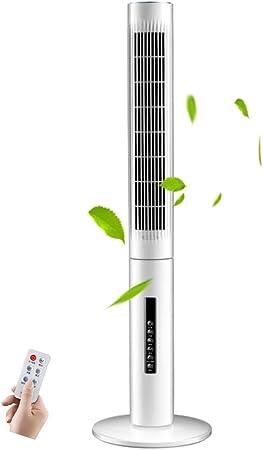 Opinión sobre FHDF Ventilador de Torre silencioso oscilante con Mando a Distancia, Portátil Bladeless aspas Tower Fans 3 velocidades 3 Modos 15H Temporizadorr para El Hogar Y La Oficina, H110cm (40W, Blanco)