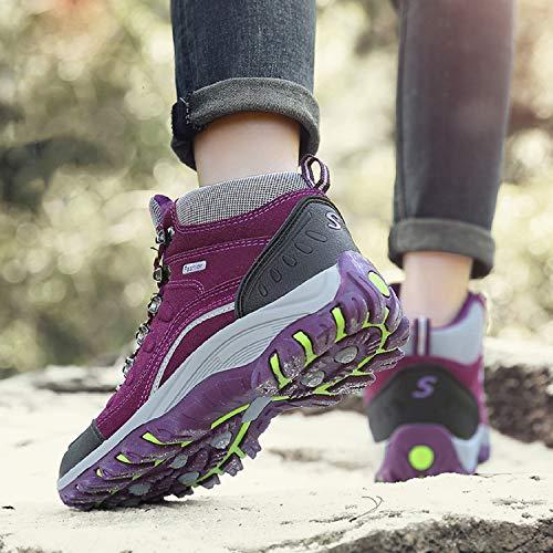 Impermeabile Sportive Stivali Uomo Escursionismo Viola da Trekking Escursionismo Arrampicata 1 Sneakers da Scarpe LILY999 Donna All'aperto da Scarpe ztXqa