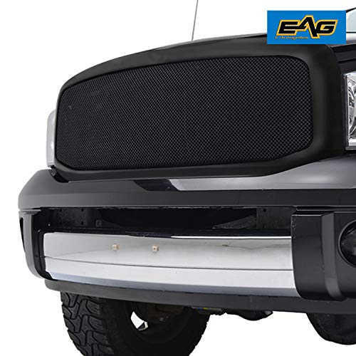 (EAG Replacement Grille Black Stainless Steel Mesh with ABS Shell Fit for 06-09 Dodge Ram)