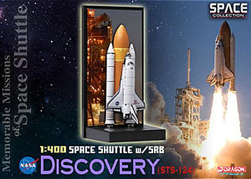 Dragon Models 1/400 Space Shuttle Discovery with SRB STS-124 - Memorable Mission of Space Shuutle