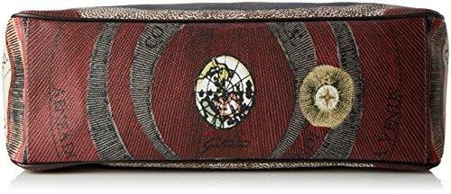 Grigio Donna A X tibetan Borsa w Spalla H 13x33x38 Gplb022 L Cm Gattinoni 4qPEII